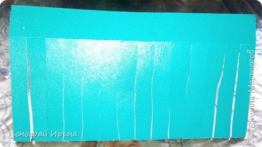 Для поделки понадобилось: цветной картон, цветная бумага, клей, ножницы. фото 5