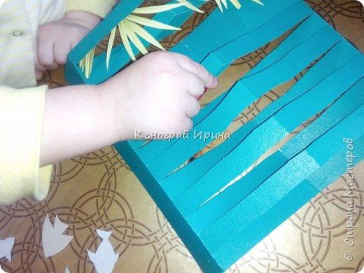 Для поделки понадобилось: цветной картон, цветная бумага, клей, ножницы. фото 9
