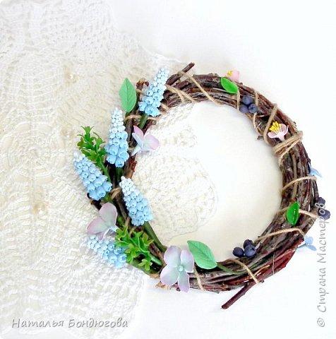 Веночки интерьерные(пасхальные, рождественские, декоративные) с цветами из ХФ.  фото 3