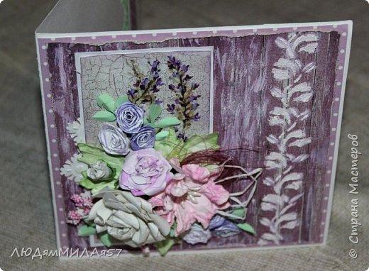 Здравствуй,Страна Мастеров и все её талантливые жители!Попросили сделать открытку одной очаровательной особе,которая очень любит розы .цвет значения не имеет.Вот что у меня получилось.  фото 16