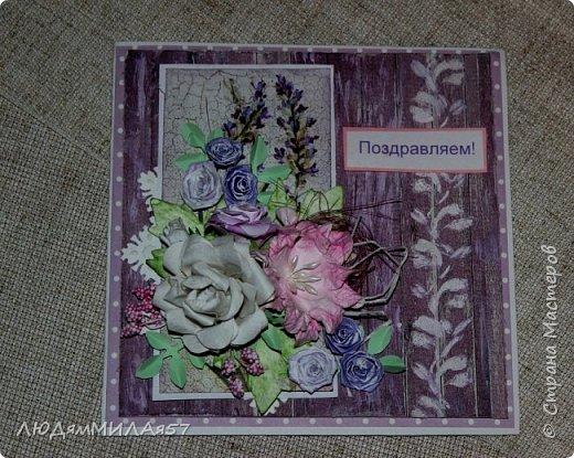 Здравствуй,Страна Мастеров и все её талантливые жители!Попросили сделать открытку одной очаровательной особе,которая очень любит розы .цвет значения не имеет.Вот что у меня получилось.  фото 12
