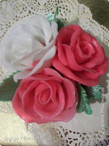 розы из мыла ручной работы, лепка фото 1