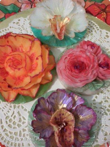 розы из мыла ручной работы, лепка фото 4