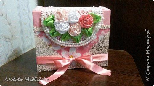 Топиарий, цветочный шар, открытки,конверты и альбомы с цветами из лент, украшения для дочки фото 8