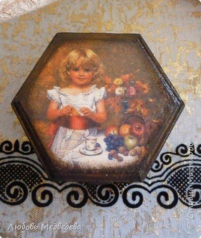 "Шкатулочка ""Девочка с фруктами"" фото 1"