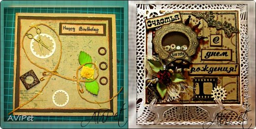 Делала открытки для друзей дочки. фото 1