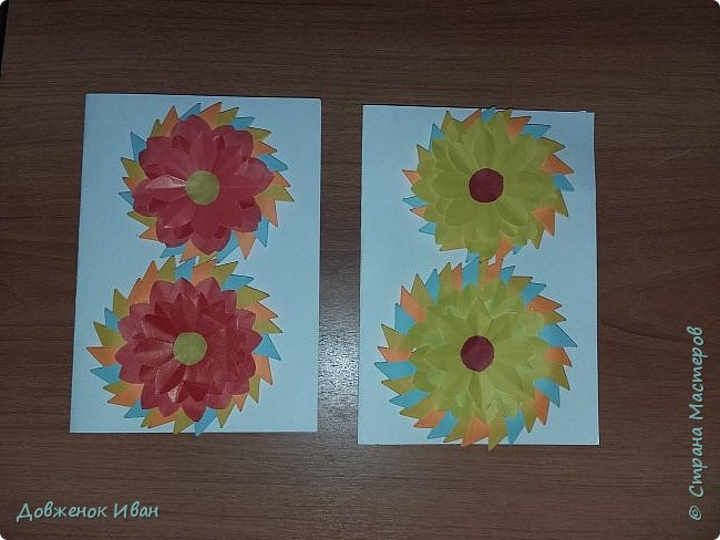 Восьмёрочки - открыточки сделал в подарок к 8 марта .  фото 1