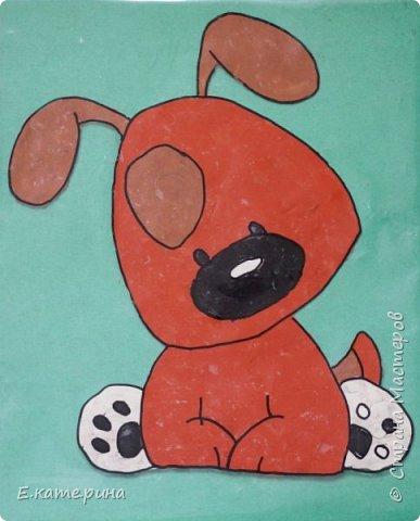 Пластилиновые картинки (детские работы) фото 3