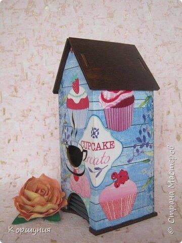 Всем привет.Очередное перевоплощение домика для чайных пакетиков. фото 3