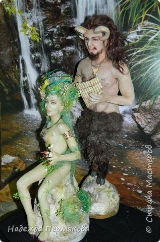 "Текстильные куклы ""Пан и Дриада"""