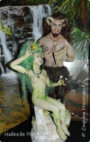 """Текстильные куклы """"Пан и Дриада"""" фото 4"""
