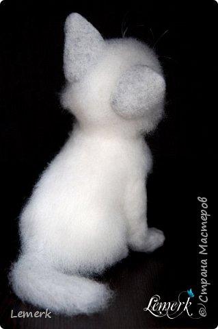Аквамарин. Валяный невский-маскарадный котенок фото 7