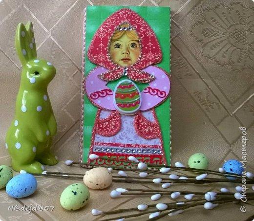 """Приветствую  всех  жителей  нашей Страны мастеров!  Как обещала, здесь я покажу как делаю упаковочку для шоколадок в мягкой  бумажной упаковке.  Как украшать и чем  можно посмотреть здесь:  https://stranamasterov.ru/node/1084936#comment-14603330 Все  сейчас делают подарки к предстоящему великому празднику ПАСХА.  Вот я решила сделать такой наряд для """"Аленки""""... к Пасхе..... Эта первая такая """"Аленка"""" можно сказать экспериментальный экземпляр.  Спешу поделится, чтобы вы тоже успели сделать  вместе с детьми такой подарок к ПАСХЕ. фото 41"""