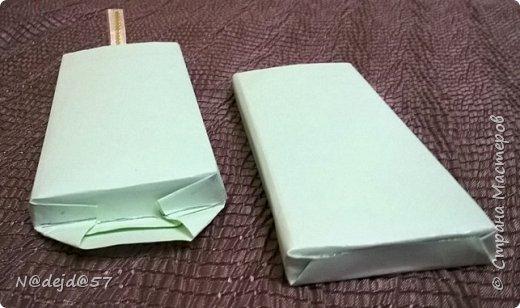 """Приветствую  всех  жителей  нашей Страны мастеров!  Как обещала, здесь я покажу как делаю упаковочку для шоколадок в мягкой  бумажной упаковке.  Как украшать и чем  можно посмотреть здесь:  https://stranamasterov.ru/node/1084936#comment-14603330 Все  сейчас делают подарки к предстоящему великому празднику ПАСХА.  Вот я решила сделать такой наряд для """"Аленки""""... к Пасхе..... Эта первая такая """"Аленка"""" можно сказать экспериментальный экземпляр.  Спешу поделится, чтобы вы тоже успели сделать  вместе с детьми такой подарок к ПАСХЕ. фото 20"""