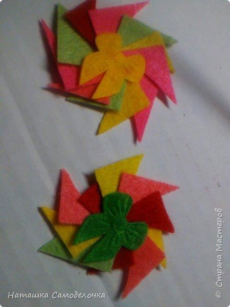всем здрасте)))))вот такие я придумала корзиночки глядя на свой фетр 10-10 фото 10