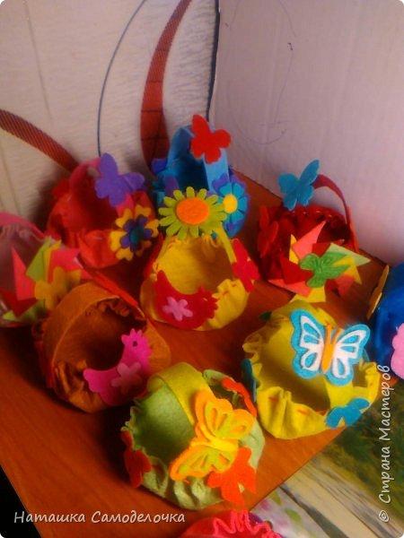всем здрасте)))))вот такие я придумала корзиночки глядя на свой фетр 10-10 фото 11