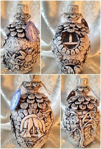 Мои сказочные бутылочки -домики из соленого теста! фото 2