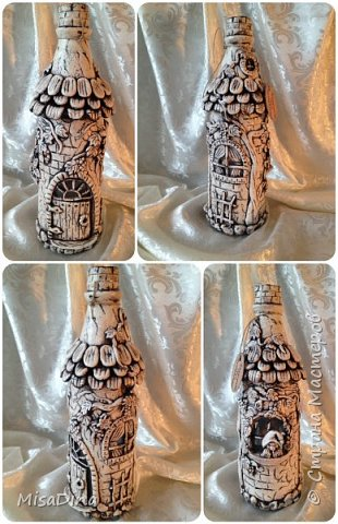 Мои сказочные бутылочки -домики из соленого теста! фото 6