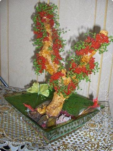 Орхидея из бисера. Первый опыт. фото 4
