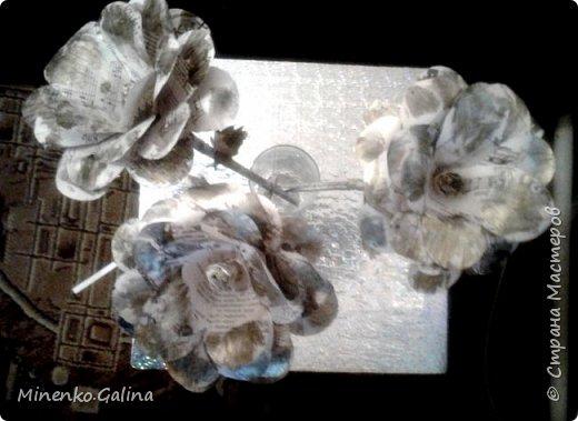 Всем доброго времени суток.Сегодня хочу показать, какие цветы из старых журналов делали мы с детьми на экоконкурс в дополнении к вазам, сделанными своими руками.Работы уехали на выставку, а я решила и себе домой сделать такие же. фото 14