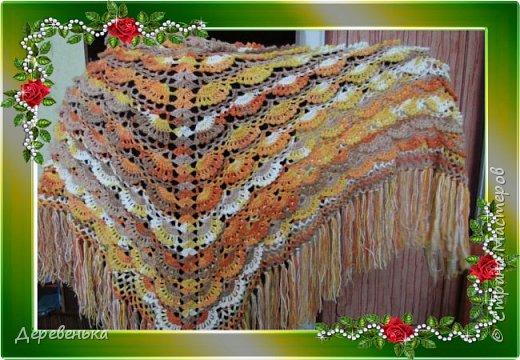 Вот и новенькие шали, что у меня получились. фото 1