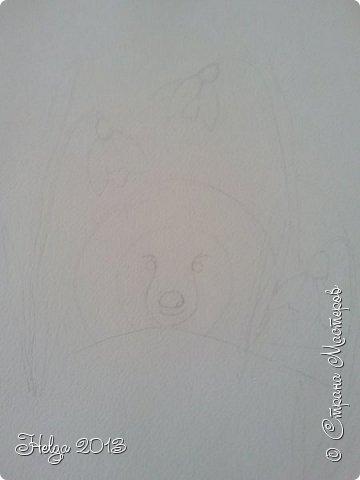 Увидела в интернете картинку с ежиком и подснежниками (автора не знаю), и решила с детьми нарисовать вот такой незатейливый сюжет. фото 2