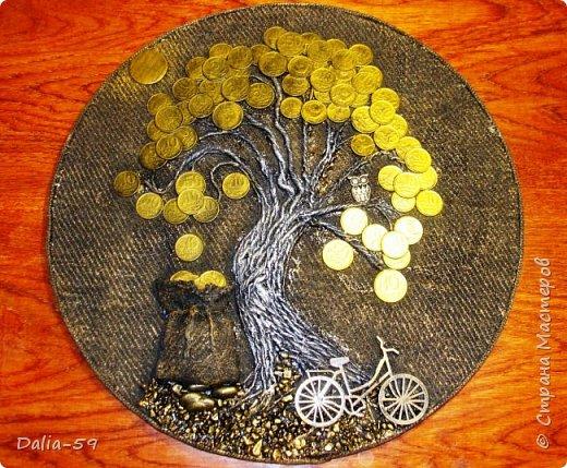 Здравствуйте,жители страны!Сделала на подарки такие денежные деревья.В стране много подобных деревьев.Здесь МК Марины.(http://stranamasterov.ru/node/578436?c=favorite)Марина,спасибо. фото 1