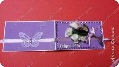 Мини открытка к празднику 8 Марта!!! фото 2