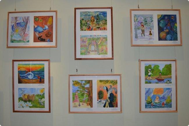 """Здравствуйте, дорогие друзья! Я к вам с очередным фотоотчётом)) Приглашаю вас на отчётную выставку творческих работ учащихся отделения """"Изобразительное искусство"""" нашей детской школы искусств. Детское изобразительное творчество - это откровение и чистота... Потому что искренне, честно, пусть наивно, не всегда по правилам искусства, зато по правилам жизни: бескорыстно, справедливо и правдиво.  На выставке представлено около двухсот работ учащихся школы искусств, выполненные за последние два года. фото 13"""