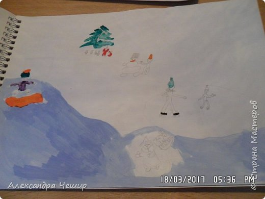 Здравствуйте, уважаемая Страна Мастеров!  Сегодня я покажу вам рисунки в альбоме.  3-ий класс. фото 41