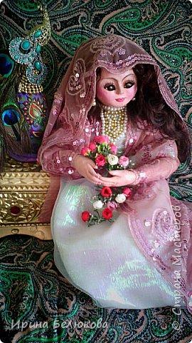 Интерьерная кукла. Лицо и ручки до половины изготовлены из полимерной глины. Тело набивное. На проволочном каркасе. Кукла  может принимать различные позы.  фото 3