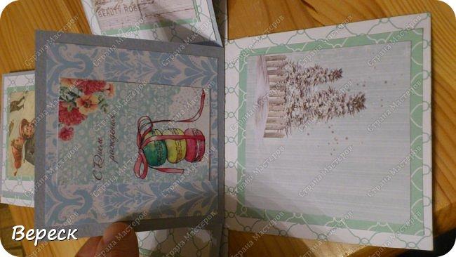 Подарок сыну.Блокнот и открытка. При возможности покажу более подробно как я сделал блокнот(маленький мк).мне очень понравилось работать ,к сожалению что за технология не знаю. фото 8