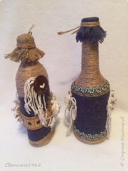 Приветствую всех!Ткань Мадагаскар,белые цветочки ,кисточки из шарфика,(доча отдала),остальное шпагат и украшения фото 4