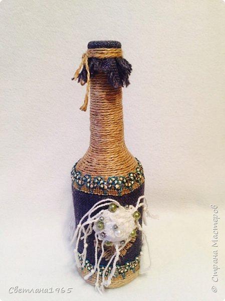 Приветствую всех!Ткань Мадагаскар,белые цветочки ,кисточки из шарфика,(доча отдала),остальное шпагат и украшения фото 6