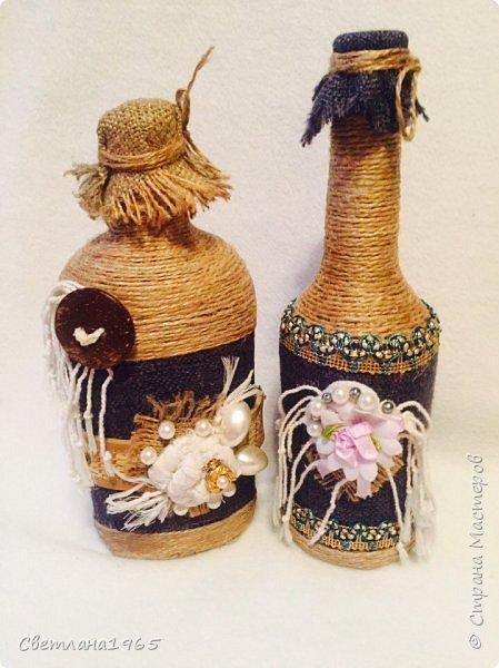 Приветствую всех!Ткань Мадагаскар,белые цветочки ,кисточки из шарфика,(доча отдала),остальное шпагат и украшения фото 1