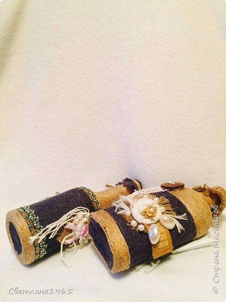 Приветствую всех!Ткань Мадагаскар,белые цветочки ,кисточки из шарфика,(доча отдала),остальное шпагат и украшения фото 5