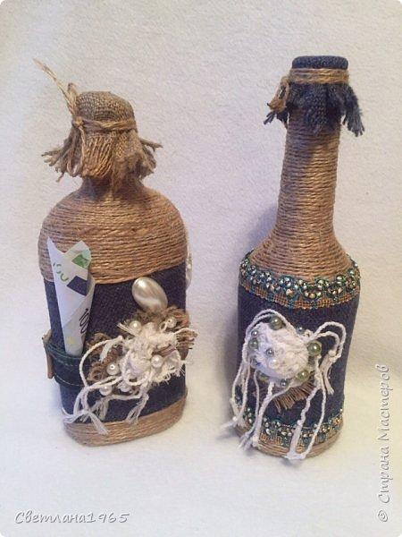 Приветствую всех!Ткань Мадагаскар,белые цветочки ,кисточки из шарфика,(доча отдала),остальное шпагат и украшения фото 3