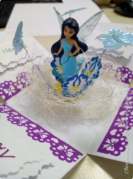 Открытка - коробочка для племянницы.  фото 3