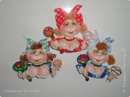 Маленькие текстильные куколки - ограничитель доступа к холодильнику) Размер кукол 10 на 12 см фото 1