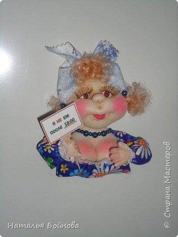 Маленькие текстильные куколки - ограничитель доступа к холодильнику) Размер кукол 10 на 12 см фото 4