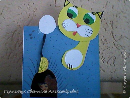 """Сегодня с ребятами на уроке  трудового обучения  работали над изготовлением динамической игрушки """"Котенок и мышонок"""". Эту  игрушку увидела на страницах Интернета  и решила  сделать с ребятами,немного изменив  ее. фото 15"""