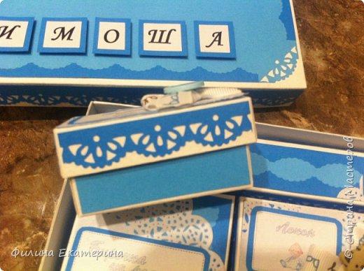 """Здравствуйте жители Страны мастеров. Я к вам со своей коробочкой """"Мамины сокровища"""". Я делала ее для племянника на годик. Это крышечка, цветы делала сама из акварельной бумаги. Старалась, чтобы коробочки получились нежными и не перегруженными. Большая коробочка 20х21 см. фото 9"""