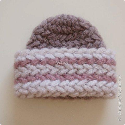 Вот такие шапочки навязала за последний месяц.  Эта шапочка и снуд связаны из пряжи Ализе суперлана макси.  фото 5