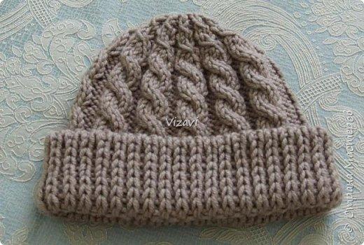Вот такие шапочки навязала за последний месяц.  Эта шапочка и снуд связаны из пряжи Ализе суперлана макси.  фото 2