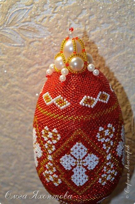 Доброго времени суток жители страны мастеров. Мое новое творение к празднику великой Пасхи!!!! Освоила плетение маковки. А получилось или нет судить Вам. фото 2