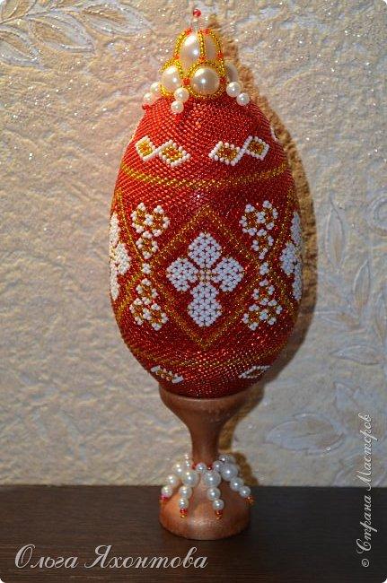 Доброго времени суток жители страны мастеров. Мое новое творение к празднику великой Пасхи!!!! Освоила плетение маковки. А получилось или нет судить Вам. фото 1