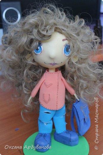 Куклы  сделанные на заказ с портретным сходством. Материал фоамиран, волосы трессы для кукол. фото 3
