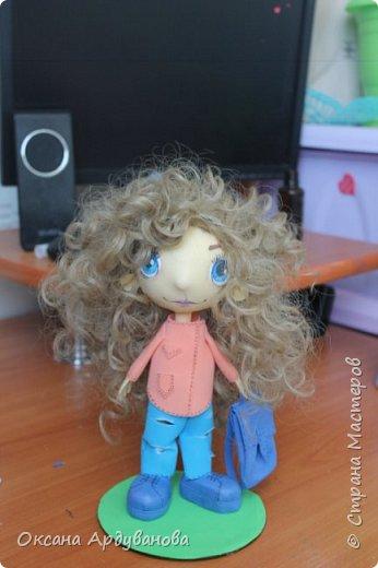 Куклы  сделанные на заказ с портретным сходством. Материал фоамиран, волосы трессы для кукол. фото 1