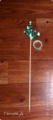 Хорошего всем времени суток! Хочу поделиться своим МК по изготовлению гиацинтов из конфет. Можт даже не совсем похоже. Можно сделать совместно с ребёнком подарок на день рождения бабушке, тёте, сестре и т.д. На 8 Марта (которое уже позади, но ещё будет). Да и просто подарок, когда идёте в гости. и приятно, и вкусно. фото 5