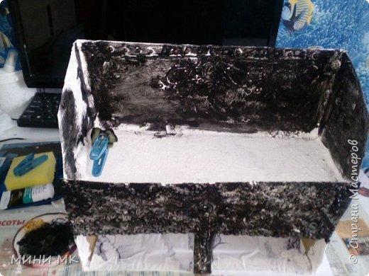 """Вот такой вот органайзер я сделала в порыве нежданного вдохновения для семи летней дочери. Очень легко и интересно было его творить )) Тогда я 3 """"коробко-органайзера"""" сделала (другие ниже будут)  В первую очередь цель была сделать что-то для хранения заколок и резинок -у нас их много, мы любим длинные волосы ))   Для работы мне потребовалась коробка прямоугольной формы (форма не важна в принципе) она у нас от фильтра для воды, картон или любые картонные коробки меньшего размера для ящичков выдвижных. Можно самим соорудить, но я взяла готовые от часов или духов. Краска, пва клей, горох, салфетки для украшения (пейп арт техника Татьяны Сорокиной), лак по желанию, самоклеющиеся обои (их можно заменить чем угодно (бумагой, салфетками, скотчем и так далее). Шпатлевка (не обязательно) фото 8"""